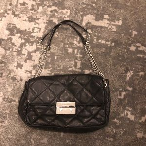 Michael Kors black quilted bag